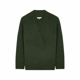 Vince Dark Green Wool-blend Jumper