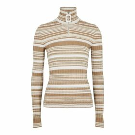 JW Anderson Brown Striped Wool Jumper