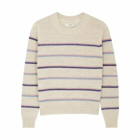 Isabel Marant Étoile Gianili Striped Alpaca-blend Jumper