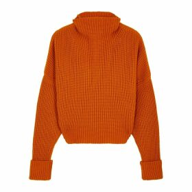 Petar Petrov Kate Orange Ribbed Cashmere Jumper