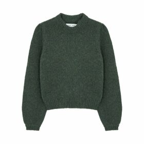 Samsøe & Samsøe Lois Green Wool-blend Jumper