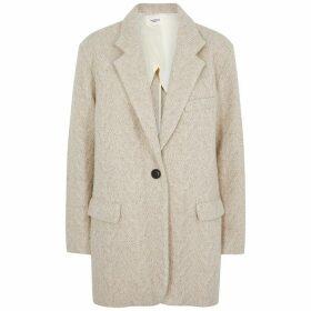 Isabel Marant Étoile Ondine Oatmeal Wool-blend Blazer