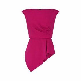 Adrianna Papell Knit Crepe Peplum Top