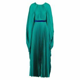 Roksanda Inara Cape-effect Pleated Satin Gown