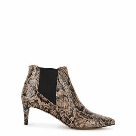 ATP Atelier Cynara 65 Snake-effect Ankle Boots
