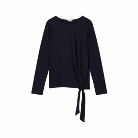 Jigsaw Wool Jersey Tie Top