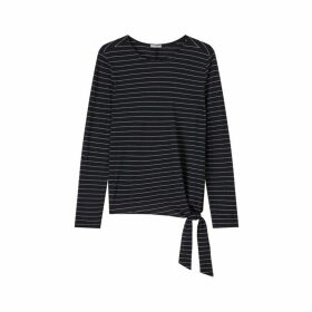 Jigsaw Stripe Wool Jersey Tie Top