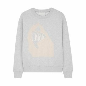 Chloé Grey Printed Cotton Sweatshirt