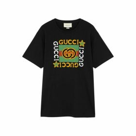 Gucci Black Logo-print Cotton T-shirt