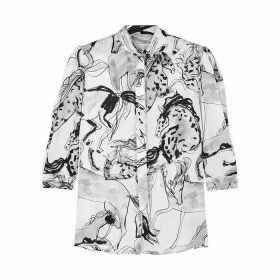 Stella McCartney Stefanie Printed Silk Shirt