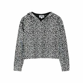 THREADS OF PRVLG Black Leopard-print Cashmere Jumper