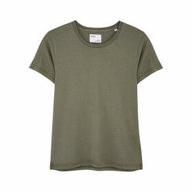 COLORFUL STANDARD Army Green Cotton T-shirt
