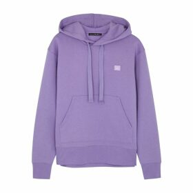 Acne Studios Ferris Face Lilac Cotton Sweatshirt