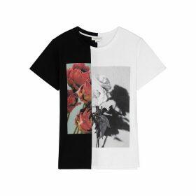 Alexander McQueen Monochrome Printed Cotton T-shirt