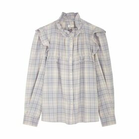 Isabel Marant Étoile Idety Checked Ruffle-trimmed Cotton Shirt
