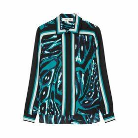 Diane Von Furstenberg Mai Printed Shirt