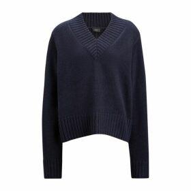 Joseph V Neck Cashmere Luxe Knit
