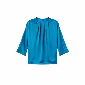 Jigsaw Gathered Neck Silk Front Top