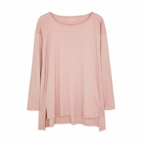 EILEEN FISHER Dusty Pink Jersey Top