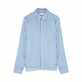 Jil Sander Moia Striped Silk-twill Shirt