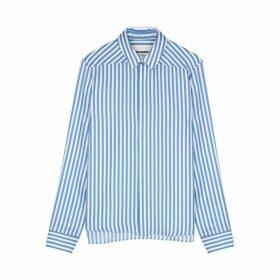 Jil Sander Moia Striped Silk-twill Shirt