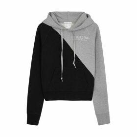 Helmut Lang Hooded Printed Cotton Sweatshirt