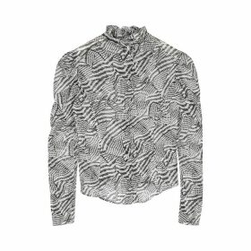 Isabel Marant Emsley Printed Cotton-blend Blouse
