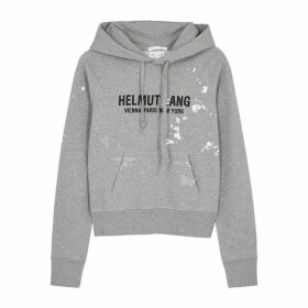 Helmut Lang Slim Painter Hooded Cotton Sweatshirt