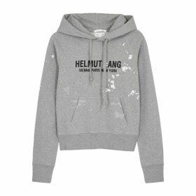 Helmut Lang Slim Painter Hooded Cotton Sweatshirt