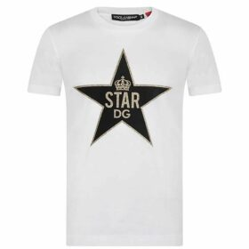 Dolce and Gabbana Glitter Star T Shirt