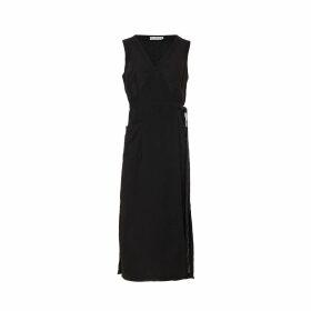 Naftul - Fluffy Faux-Fur Bomber Jacket Black