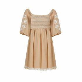 Naftul - Fluffy Faux-Fur Bomber Jacket Green