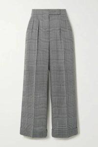 Max Mara - Erice Cropped Prince Of Wales Checked Wool Wide-leg Pants - Dark gray