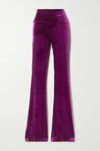 Norma Kamali - Stretch-velvet Bootcut Pants - Pink