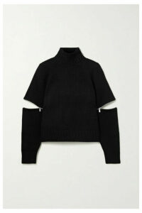 Michael Kors Collection - Zip-embellished Cashmere Turtleneck Sweater - Black