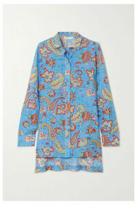 Etro - Alyssa Paisley-print Ramie Shirt - Blue