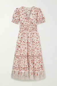 Ulla Johnson - Zaria Floral-print Cotton Midi Dress - Ecru