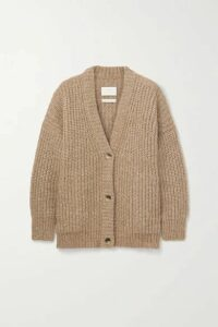 Lauren Manoogian - Ribbed Alpaca And Cotton-blend Cardigan - Camel