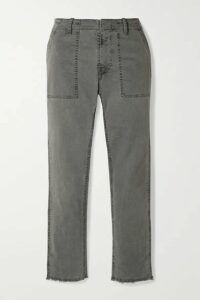 Nili Lotan - Jenna Stretch-cotton Twill Straight-leg Pants - Gray