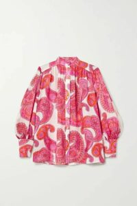 Zimmermann - Peggy Paisley-print Ramie Blouse - Magenta