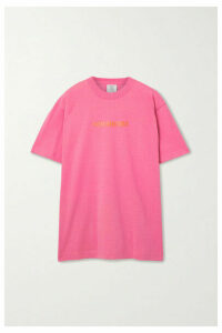 Vetements - Oversized Appliquéd Jersey T-shirt - Pink
