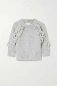 APIECE APART - Aldama Fringed Alpaca-blend Sweater - Gray