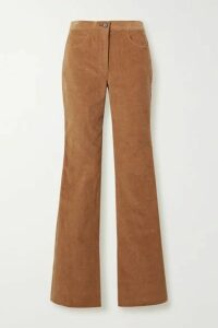 Adam Lippes - Stretch-cotton Corduroy Flared Pants - Camel