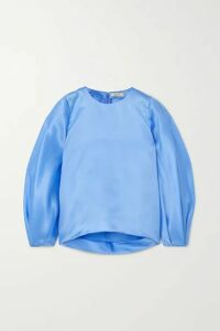 Nina Ricci - Silk-satin Blouse - Blue