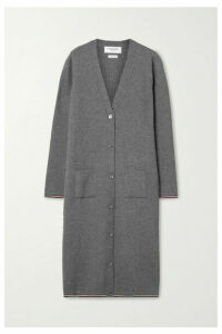 Thom Browne - Ribbed Merino Wool-blend Cardigan - Gray