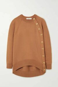 Givenchy - Oversized Button-embellished Wool Sweater - Beige