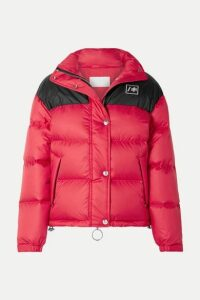 RE/DONE - + Ienki Ienki Cropped Quilted Shell Down Jacket - Red