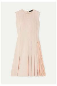 Theory - Pleated Crepe Mini Dress - Neutral
