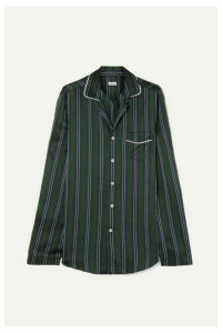 Loewe - Striped Silk-charmeuse Shirt - Navy