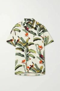PatBO - Printed Voile Shirt - Off-white